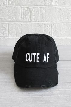 Cute AF Hat from Jawbreaking. Saved to New Arrivals. Shop more products from Jawbreaking on Wanelo.