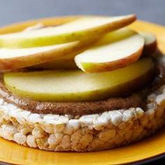 This gluten-free, healthy snack uses almond butter and apples, but feel free to swap for other nut butter and fruit combinations, such as peanut butter and banana.
