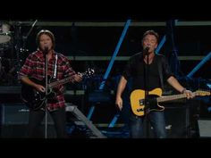 """▶ John Fogerty & Bruce Springsteen - """"Oh Pretty Woman"""" [Live at The Anniversary Rock and Roll Hall of Fame Concert. Recorded live in concert at Madison Square Garden in New York City on October, Simon Garfunkel, Art Garfunkel, Bruce Springsteen, Paul Simon, Madison Square Garden, Recital, Pretty Woman, Music Songs, Music Videos"""