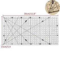 a righello patchwork cucire quadrati artigianato ruler quilting misura tailor