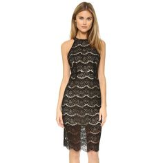 WAYF Cross Back Lace Midi Dress ($44) ❤ liked on Polyvore featuring dresses, mid calf dresses, cross back dress, lace cocktail dress, sleeveless cocktail dress and midi dress