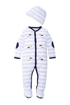 Petit Lem   Petit Lem Embroidered Car Sleeper & Hat Set (Baby Boys)   Nordstrom Rack