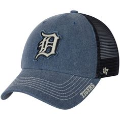 1ee9f054e17 Detroit Tigers Burnstead Clean Up Trucker Adjustable Hat Navy. Detroit  Tigers CapCleaningMens ...