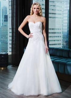 High Quality A Line Wedding Dress 2015 Sweetheart Lace Appliques Cheap Bridal Gown A Line Organza Vestido De Noiva MW3080