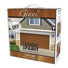Giani Satin English Oak Exterior Paint Kit (Actual Net Contents: oz) at Lowe's. From cold, plain white or simple solid, paint your garage door to look like wood in a single morning or afternoon. Similar to the native tree of lush Wood Garage Kits, Garage Door Paint, Plan Garage, Wood Garage Doors, Garage Door Makeover, Front Doors, Front Porch, Garage Shop, Garage Door Colors