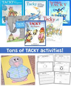 Tons of Tacky Activities! Comprehension, vocabulary and opinion questions for 6 different Tacky books.