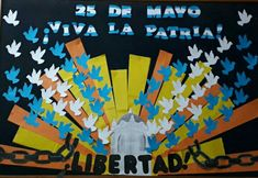 25 de mayo School Murals, Ideas Para Fiestas, Most Beautiful Pictures, Paper Flowers, Diy And Crafts, Told You So, Nightingale, Elba, Wall Art
