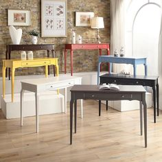 Love this; style would match living room perfectly.  Daniella 1-drawer Wood Accent Office Writing Desk - Overstock™ Shopping - Great Deals on Desks
