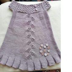 En Güzel Örgü Bebek Elbiseleri 2019