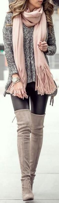 d9cd97d9f2e403 100+ Trending Women s Thigh High Boots Outfit Ideas for Fall or Winter 2018