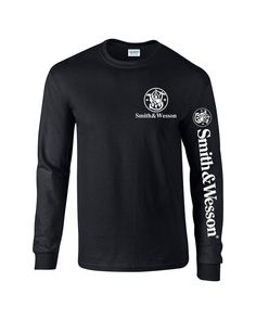 Smith And Wesson  T-Shirt Pro Gun Long Sleeve 2nd amendment Free Decal 2 #Gildan #GraphicTee