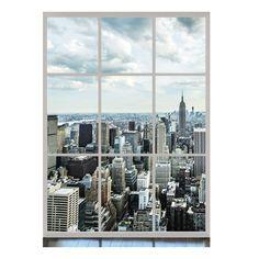 Фотообои флизовые 2 полосы Панорама Манхэттена | Бауцентр