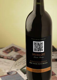 QR Code Wine Label