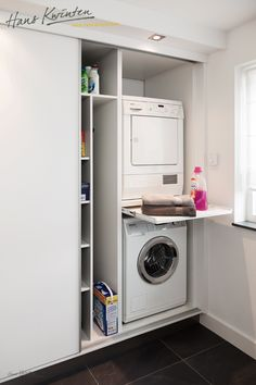 Clever Storage Ideas for Your Tiny Laundry Room. Wall Storage for Laundry Suppli… Clever Storage Ideas for Your Tiny Laundry Room. Wall Storage for Laundry [. Laundry Cupboard, Laundry Closet, Laundry Room Organization, Laundry Storage, Cupboard Storage, Wall Storage, Closet Storage, Bathroom Storage, Storage Ideas