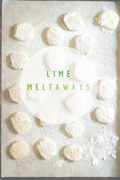 Lime Meltaways. Delicate, buttery, melt-in-your mouth slice-and-bake cookies with loads of lime flavor. From Blossom to Stem | www.blossomtostem.net