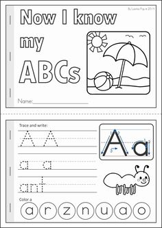 A page from the unit: Now I know my ABCs Summer handwriting practice booklet Literacy Worksheets, Math Literacy, Math Vocabulary, Alphabet Worksheets, Kindergarten Literacy, Preschool Learning, Learning Letters, Literacy Activities, Kids Education