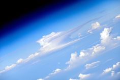 Clouds seen from the ISS. Picture: Cosmonaut Oleg Artemyev