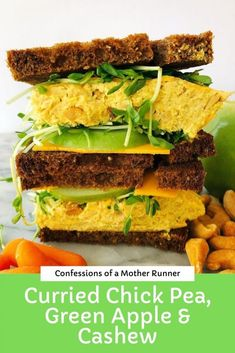 Vegetarian Protein, Vegetarian Recipes, Healthy Recipes, Easy Recipes, Veggie Sandwich, Sandwiches For Lunch, Lunch Recipes, Clean Eating Recipes, Healthy Meal Prep