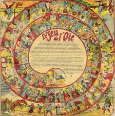 Beautiful old board game - jeu oie a by (agence eureka)