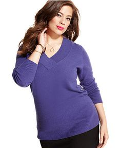 Charter Club Plus Size Sweater, Cashmere Long-Sleeve Tunic - Plus Size Sweaters - Plus Sizes - Macy's