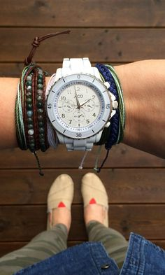 Navy Accessories - Pura Vida Bracelets Braided Collection