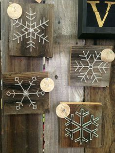 A unique snowflake for each member of the family because we are all unique. LK