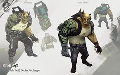 Shadowrun Returns - Male Troll/Decker