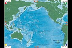 Giant travelling map from National Geographic-receiving pacific ocean in May2012