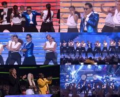 "Psy brings the crowd to their feet with ""Gentleman"" on the finale of 'American Idol'..."