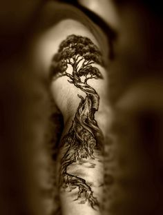Stunning ~ would love a tattoo like this up my back .. slowly adding more and more to it