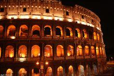 Anfiteatro Flavio-El Coliseo-Nocturno   Enero 2008