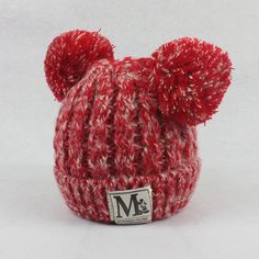 These soft cotton hats will keep babies toasty warm in cold weather! The knit pompoms will only add to his or her cuteness as they bobble in the wind. The hat comes in six different color blends, so y