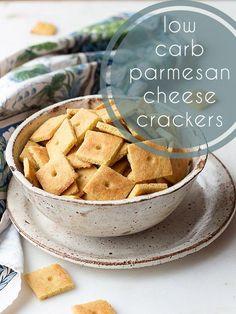 Low Carb Parmesan Crackers