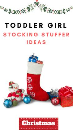 Girl toddler stocking stuffers for Christmas. Cheap christmas gifts for toddlers