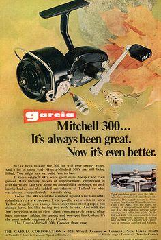 1973 Garcia Mitchell 300 Fishing Reel Advertising Outdoor Life April 1973…