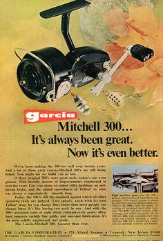 1973 Garcia Mitchell 300 Fishing Reel Advertising Outdoor Life April 1973…