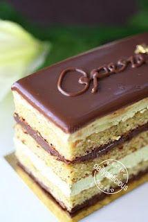 Opera Cake, with a twist! Pistachio Opera