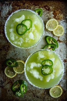 Frozen Jalapeno Lemonade Margaritas