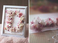 DIY: Blumen Monogramm