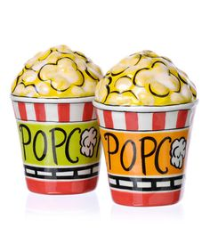 Take a look at this Popcorn Salt & Pepper Shaker Set  by Clay Art on #zulily today!
