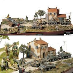 """The monster has landed"" Italy 1944 (Tamiya 1/48) Republic P-47D Razobrback/M4 Sherman Autor/author: Kazuya Yoshioka #plastimodelismo #modelismo #plasticmodel #scalemodel #p47 #razorback #aircraft #militaria #sherman #tamiya #italia #italy #hobby #passatempo #diorama #avion #caza #caça #jabo #iigm #ww2 #history #historia #military"