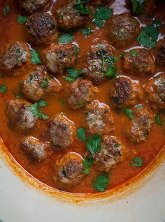 Harissa Lamb Meatballs by pbs.org #Meatballs #Lamb #Harissa