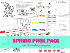 FREE Spring PreK Pack - This Reading Mama