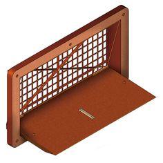 ENTRADA DE AIRE PVC. Entrada de aire diseñada para proporcionar el caudal de aire exacto según la demanda del extractor. Material PVC. Color naranja. Dimensiones: 927x527x105 mm.