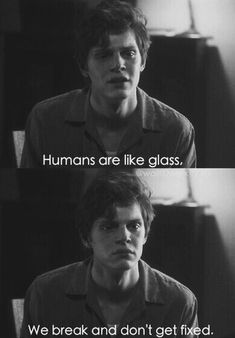 Imagen de american horror story, ahs, and evan peters American Horror Story Quotes, American Horror Story Asylum, Evan Peters, Ahs Asylum, Tate And Violet, Khadra, Grunge, Film Serie, Favim