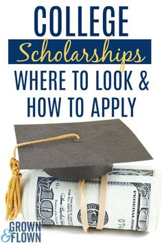 College Scholarships: Best Places To Look and How to Apply If you're looking for college scholarships and don't know where to start, this is a great resource for finding college financing and learning the process for applying for scholarships. Grants For College, Financial Aid For College, Online College, College Hacks, Scholarships For College, College Fun, Education College, College Students, College Savings