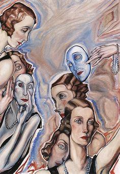 Gyula Batthyany (Hungarian artist, 1887-1959) Masked Ball 1920s