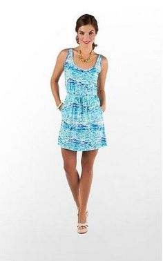 lilly pulitzer high tide toile kori dress