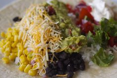 Homemade Chipotle Burrito - I want to make this ! But I want a salad !