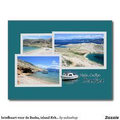 Photo, tourism, Europe, Croatia, Croatian, Adriatic sea, Adriatic , Mediterranean, Istrie, Kvarner, Baska, island Krk, krk, vacation, travelling, journey, holiday, holidays, holiday, voyage, reizen, vakantie, Kroatie, postcard, postcards, design,  Originele postkaarten voor de Baska in Kroatië met een heel nieuw design. Ook verkrijgbaar ZONDER TEKST zodat je ze kan personaliseren